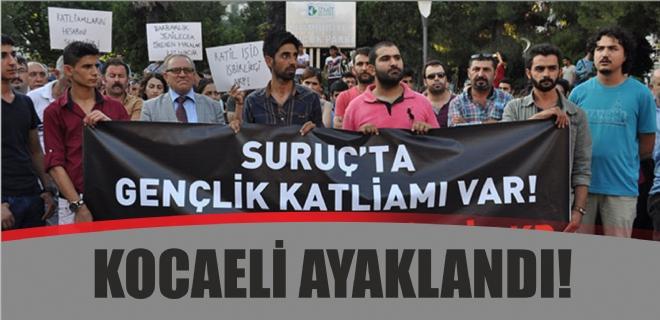 Kocaeli'den Suruç Katliamı protestosu