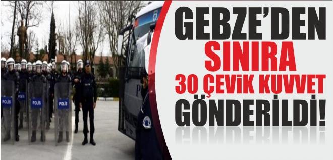 Gebze'den 30 kişi gönderildi