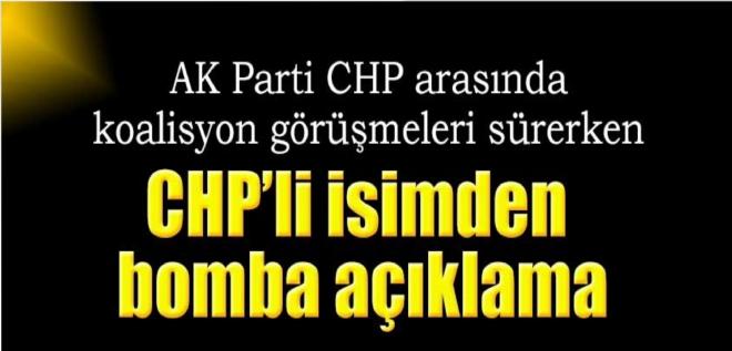 CHP'li isimden gündemi sarsacak ihtimal