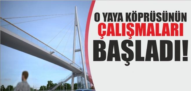 Valilik kampüsü yaya köprüsü çalışmaları başladı