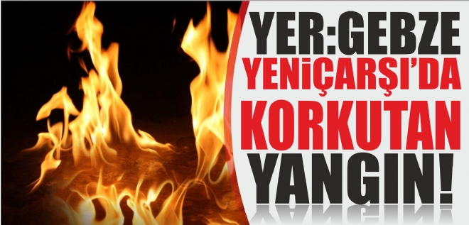 Gebze'de yangın paniği!