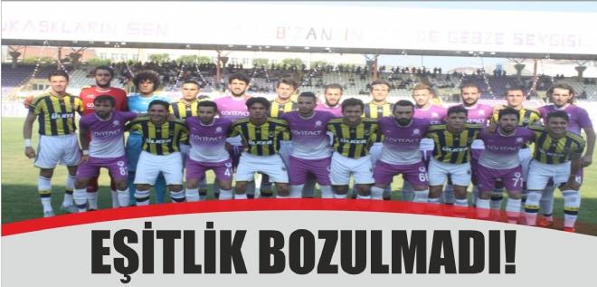EŞİTLİK BOZULMADI!