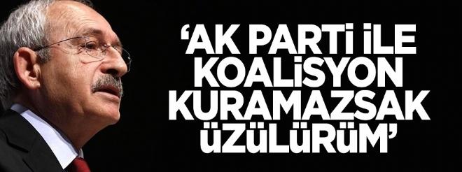 'AK Parti ile koalisyon kuramazsak üzülürüm'