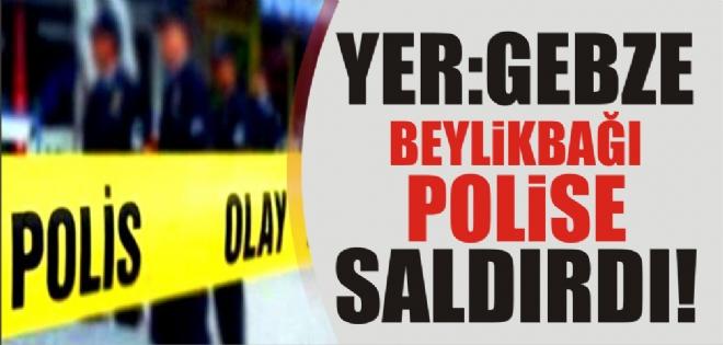 KESİCİ ALETLE POLİSE SALDIRI