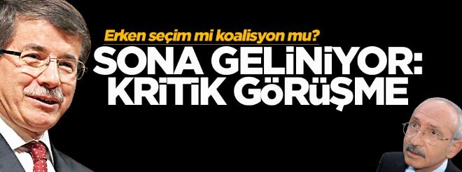 Davutoğlu, Kılıçdaroğlu ile koalisyon görüşmesi yapacak
