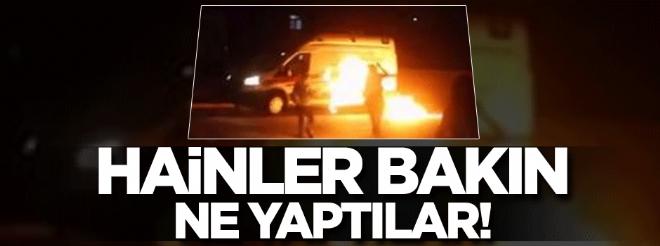 Mardin'de ambulansa molotofla saldırdılar!