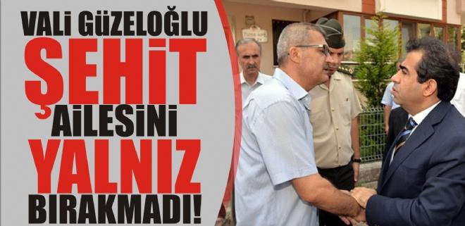 Vali Güzeloğlu'dan şehit ailesine ziyaret