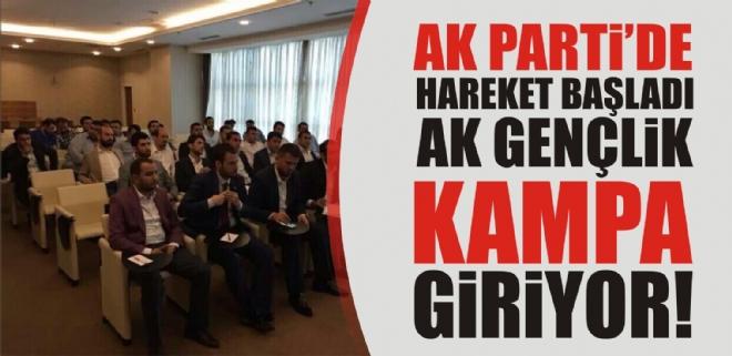 AK Gençlik kampa giriyor