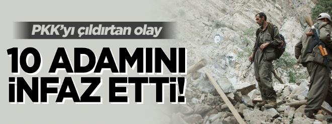 PKK içten çöküyor! 10 militanını infaz etti