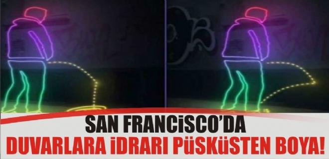 San Francisco'da duvarlara idrarı geri püskürten boya
