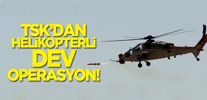 Tendürek Dağı'na helikopterli operasyon!