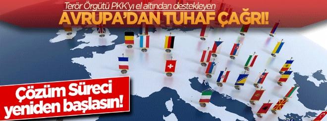 PKK'yı el altından destekleyen Avrupa'dan tuhaf çağrı!