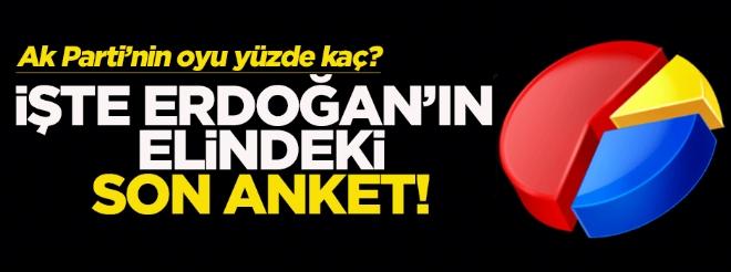 İşte Ak Parti ve Erdoğan'ın elindeki son anket!