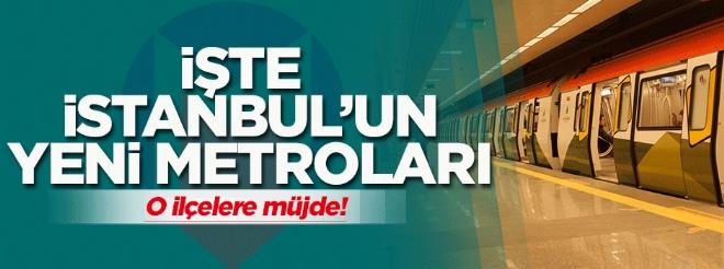 İstanbul'a iki yeni metro hattı müjdesi