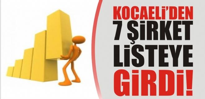 Kocaeli'den 7 şirket listeye girdi!