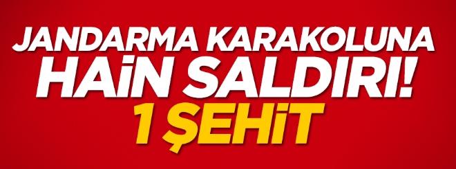 Diyarbakır'da jandarma karakoluna saldırı: 1 şehit