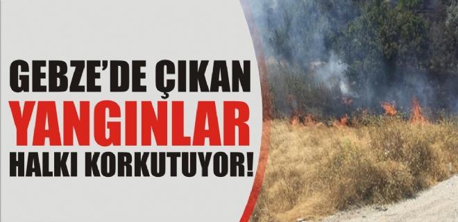Gebze'de çıkan yangınlar halkı korkutuyor