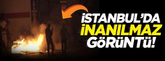 Ataşehir'de terör örgütü PKK yandaşı teröristler olay çıkardı