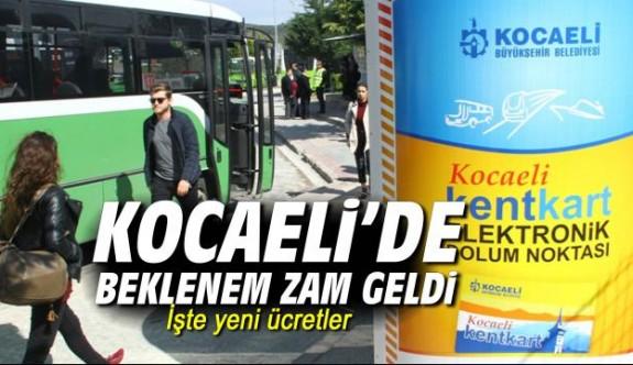 Kocaeli'de ulaşıma zam
