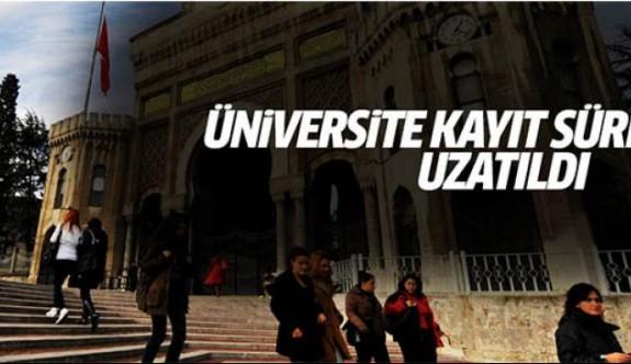 Üniversiteye e-kayıt süresi uzatıldı
