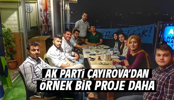 Ak Parti Çayırova'dan Örnek Bir Proje Daha