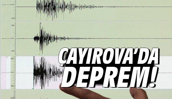 Çayırova'da deprem!