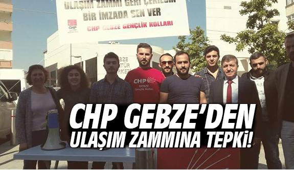 CHP Gebze'den Ulaşım Zammına Tepki!