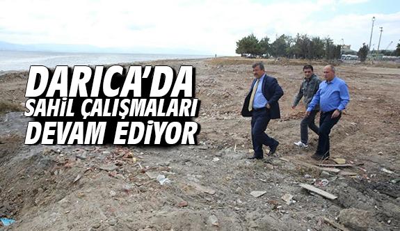 Darıca'da sahil çalışmaları devam ediyor