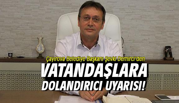 Demirci'den Vatandaşlara Dolandırıcı Uyarısı!