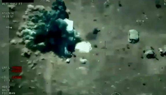 IŞİD'e ait 5 hedefin imha edilme anı