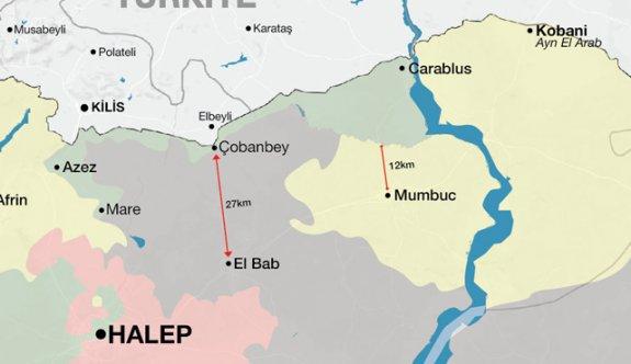 IŞİD'in Türkiye sınırı ile teması kesildi!