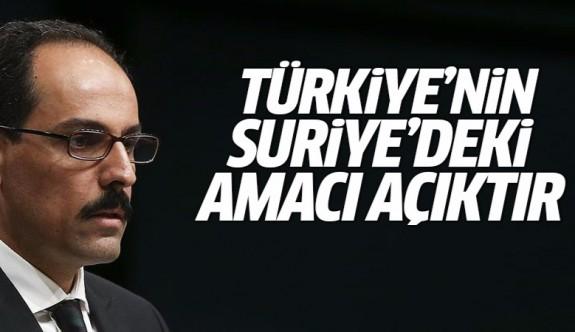 Kalın: Fırat Kalkanı Harekatı Türkiye'nin kararlılığını kanıtladı