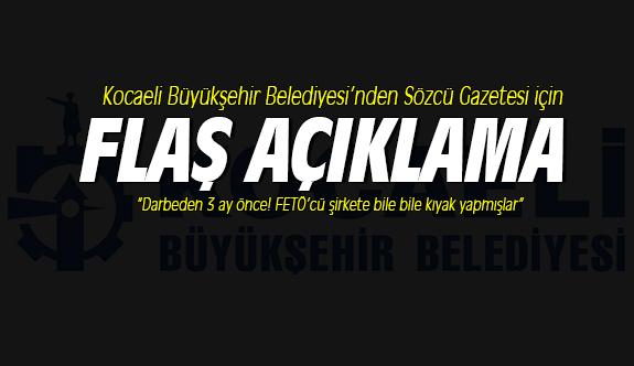 Kocaeli Büyükşehir Belediyesi'nden önemli açıklama