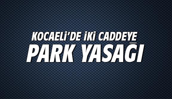 Kocaeli'de iki caddeye park yasağı