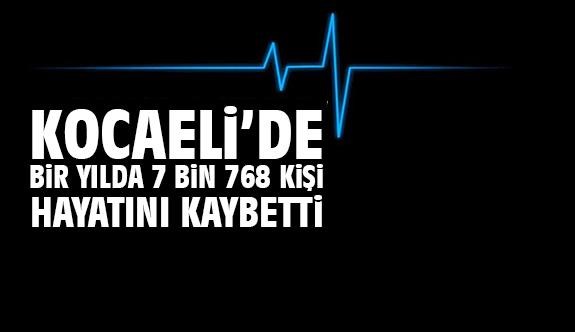Kocaeli'de bir yılda 7 bin 768 kişi hayatını kaybetti
