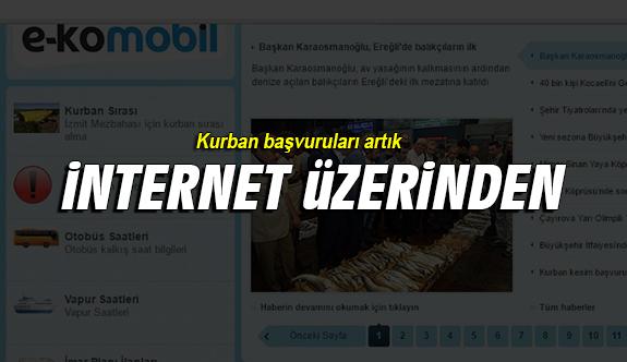 Kurban başvuruları internet üzerinden alınmaya başlandı