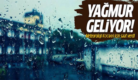 Meteoroloji'den Kocaeli için kritik yağmur uyarısı!