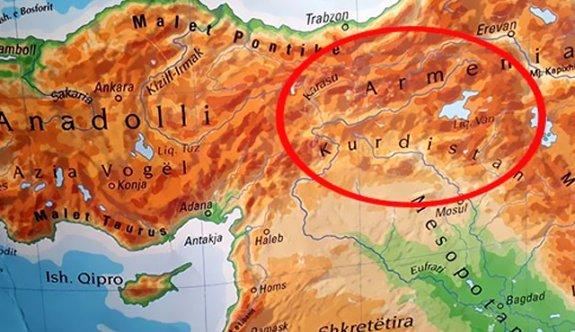 Skandal Türkiye haritası!