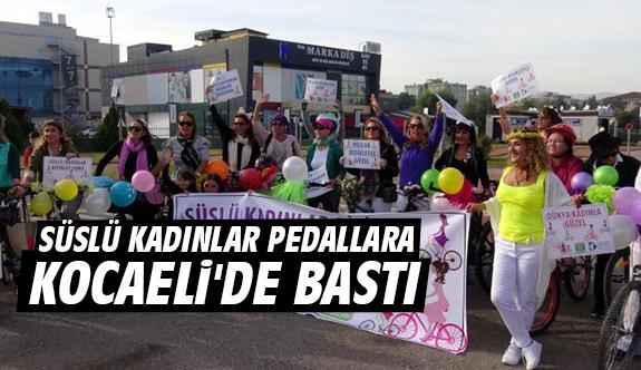 Süslü kadınlar pedallara Kocaeli'de bastı