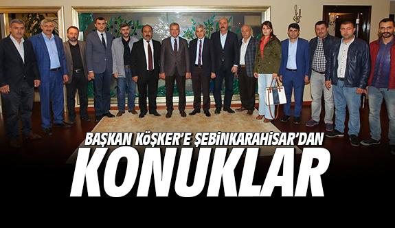 Başkan Köşker'e Şebinkarahisar'dan konuklar