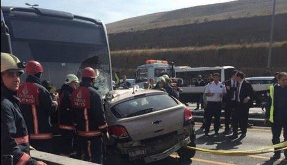 Bir metrobüs kazası daha!