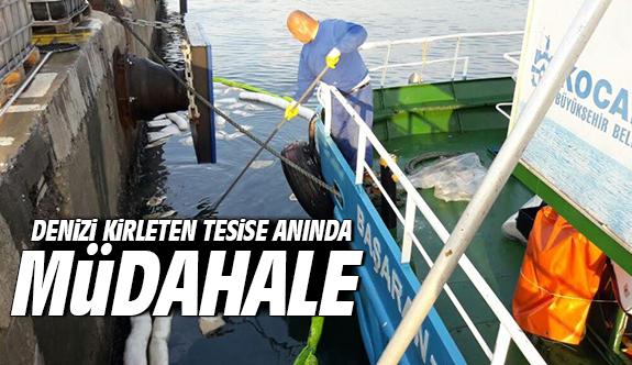 Büyükşehir'den denizi kirleten tesise anında müdahale