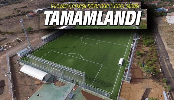 Dilovası Çerkeşli Köyü'nde futbol sahası tamamlandı