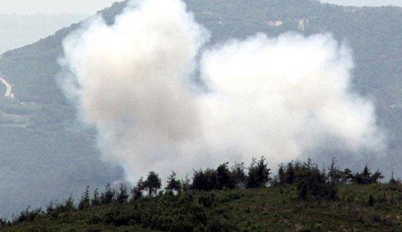 Esed Türkmendağı'nı bombalıyor