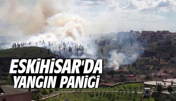 Eskihisar'da yangın paniği