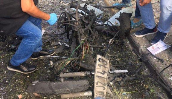 İşte patlatılan motosikletin son hali
