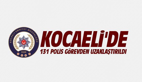 Kocaeli'de 131 polis görevden uzaklaştırıldı