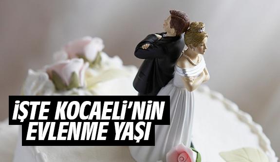 Kocaeli'de evlenme yaşı istatistikleri açıklandı