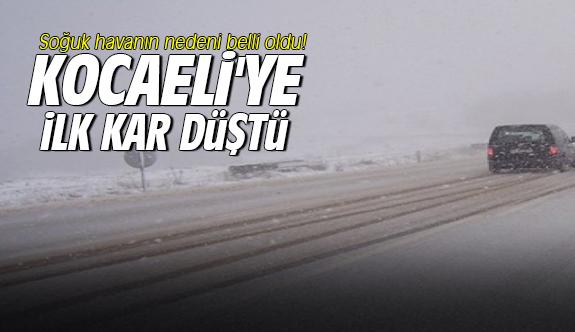 Kocaeli'ye ilk kar düştü
