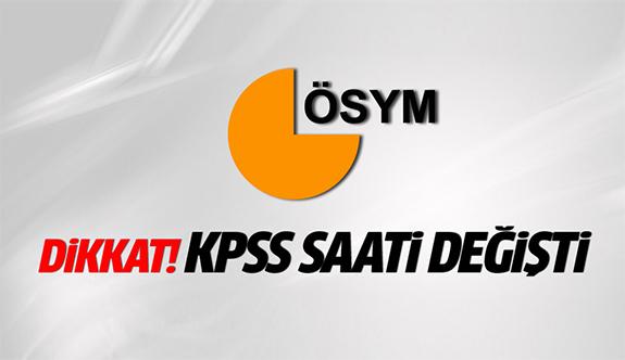KPSS'nin saati değişti